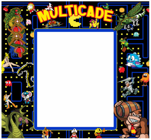 Multicade Arcade Monitor Bezel Sticker Decal