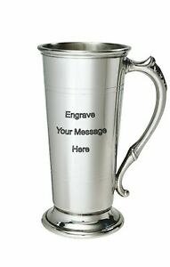 NEW-Personalised-1-Pint-Lager-Polished-Pewter-Tankard-Any-Message-Engraved