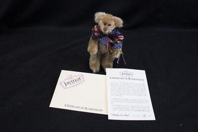 """Dolls & Bears Artist Rare Jaymar Creations """"americana Ted"""" Patriotic Mohair Bear By Folks Jf00301"""