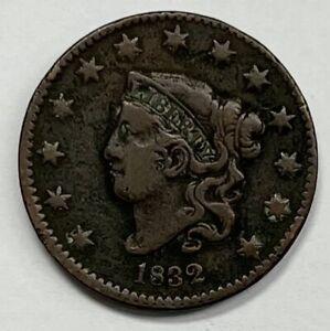 1832 Coronet Head Large Cent 1¢ Fine - Very Fine