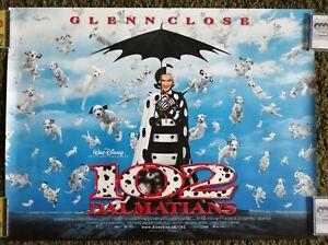 102 Dalmatians 2000 Original Uk Quad Movie Poster Glenn Close Gerard Depardieu Ebay