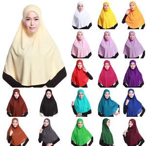 Women-Lady-Islamic-Muslim-Hijab-Scarf-Head-Wrap-Cap-Wear-Ninja-Hat-Neck-Headwear