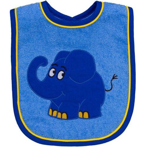 Smithy Lätzchen Der kleine blaue Elefant  24 x 24 cm Baby Mode Neu