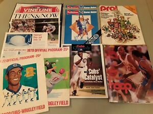 CHICAGO-SPORTS-MEMORABILIA-CUBS-BEARS-BULLS-GAME-PROGRAMS-amp-MAGAZINES