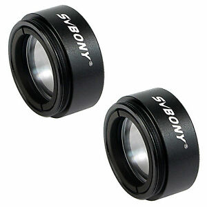 2pcs SVBONY 1.25inch Telescope Eyepiece 0.5X Focal Reducer Lenses for Astronomy