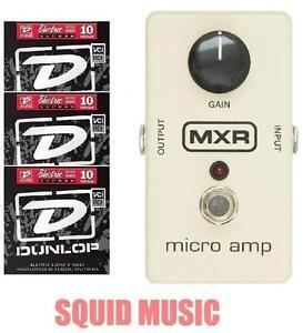 mxr micro amp boost gain guitar effects pedal m 133 m133 3 string sets ebay. Black Bedroom Furniture Sets. Home Design Ideas