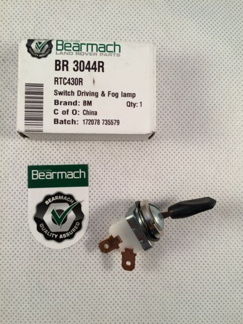 Bearmach Land Rover Series 2 , 2a & 3 Fog Lamp Toggle Switch - BR3044R  RTC430R