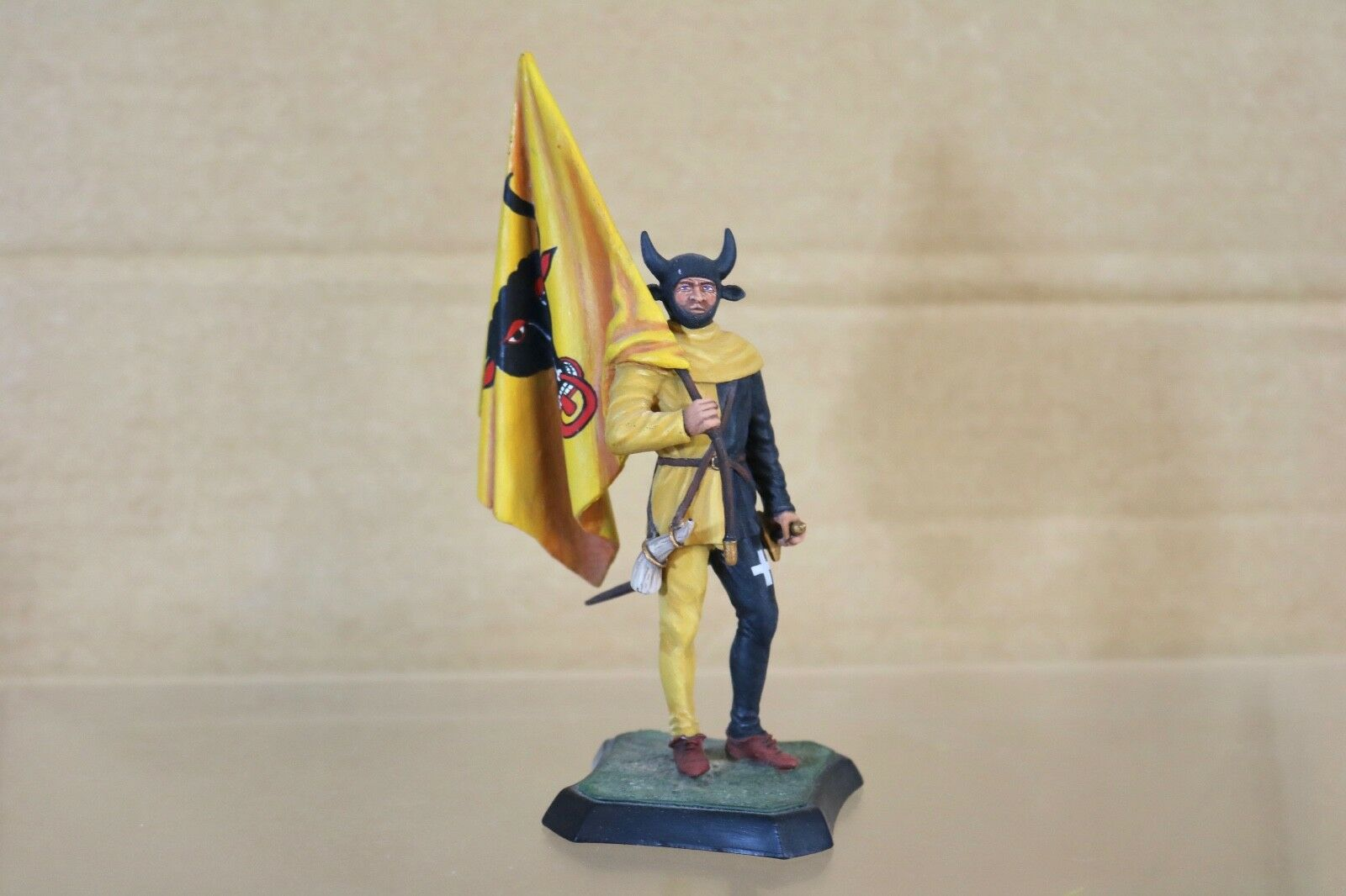 STADDEN SERIES 77 HINCHCLIFFE 90mm MEDIEVAL SWISS MERCINARY MUSEUM QUALITY