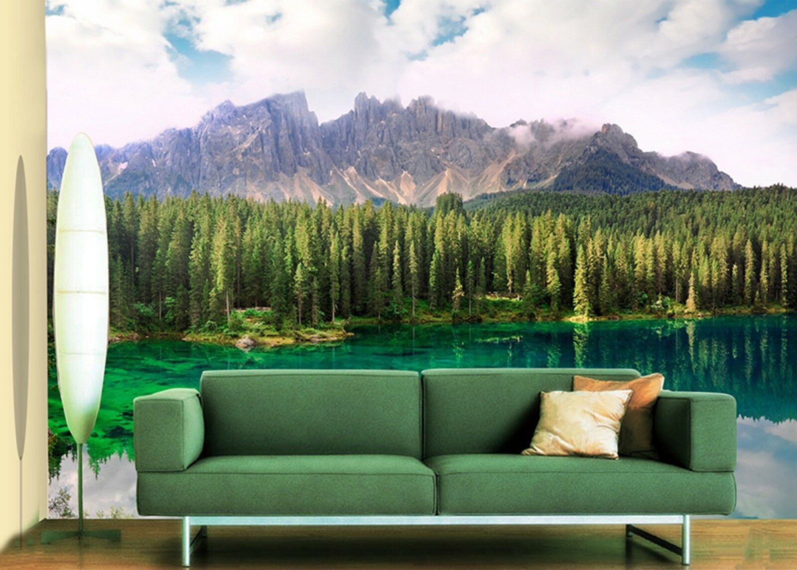 3D forest lake mountain Wall Paper Print Decal Wall Deco Indoor wall Mural