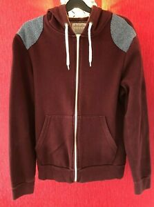 Men-039-s-Hooded-Top-Size-UK-Small-Burton-Menswear-Hoodie-Purple