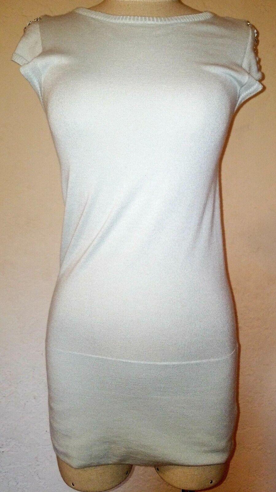 Iisli Sky Blau Cashmere Long Tee Shirt Größe PT NWT Retails over