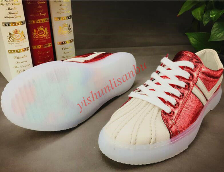 Hot Men' shoes Shiny Lace up Crystal Heels Flat Board Sneakers shoes Fashion New