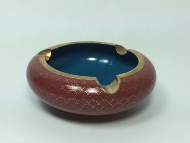 Vintage chinese cloisonne ashtray