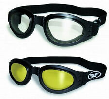 2 Awesome Motorcycle Skydive Goggle Google Glasses Clear and Yellow Burning Man