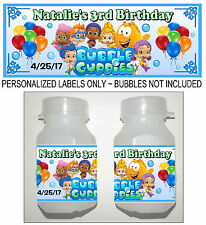 30 BUBBLE GUPPIES BIRTHDAY PARTY FAVORS BUBBLE LABELS