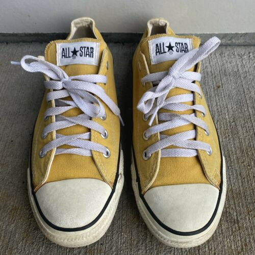 Vintage Converse Chuck Taylor's Yellow Low Tops Ma