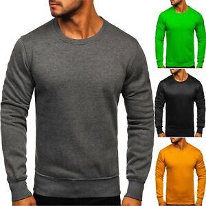 Sweatshirt Langarmshirt Pullover Rundhals Basic Sport Herren Mix BOLF Unifarben