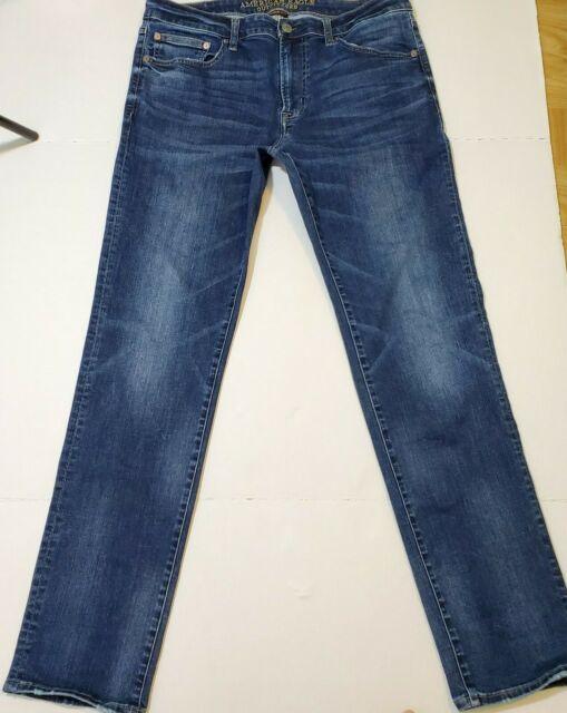 American Eagle Outfitters Men Extreme FLEX SLIM STRAIGHT Jeans 34x32.5 (34×34)