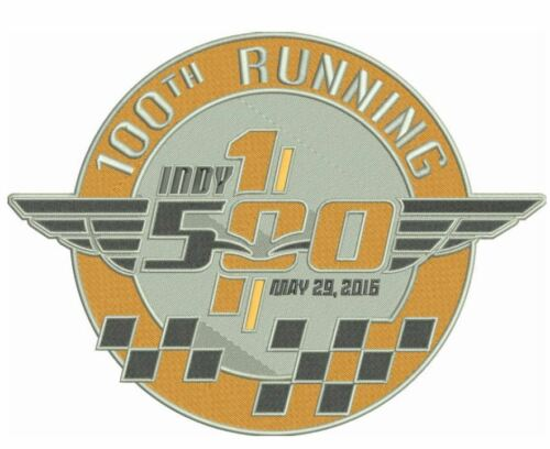 100th Running Indy 500 Patch 2016 Jersey Style 4 Indianapolis Motor