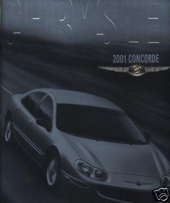 2001 Chrysler Concorde 28-page BIG Size Original Car Sales Brochure Catalog
