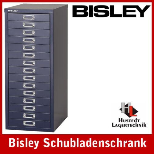 NEU BISLEY Schubladenschrank 15 Schübe in oxfordblau