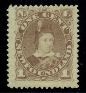 NEWFOUNDLAND-41-1c-violet-brown-Edward-VII-og-LH-VF-Scott-52-50