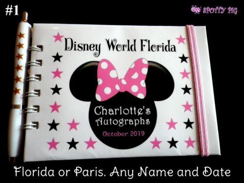 Libro de autógrafos personalizado o de Disneylandia Castillo de Disney World tamaño de bolsillo