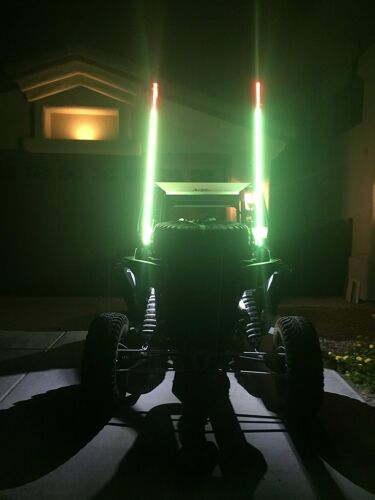 LED Lighted whip 5ft Remote Controlled w// American Flag /& Quick Connect RZR 1000