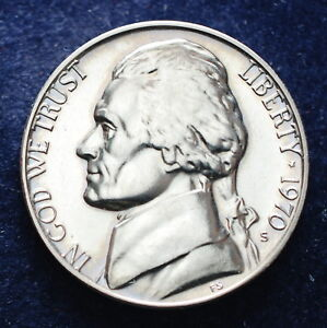 1970 S USA 5 cent nickels Proof - Italia - 1970 S USA 5 cent nickels Proof - Italia