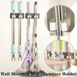 Kitchen Mop Broom Holder Wall Mount Organizer Brush Storage Hanger Rack Tool USA