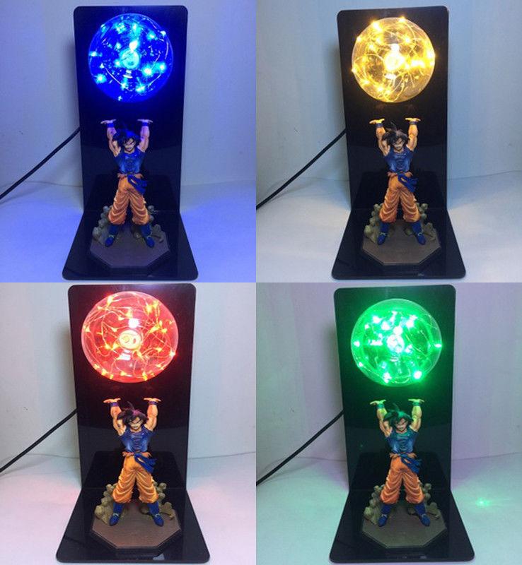 Dragon Ball Z Figure Son Goku Spirit Bomb DIY Display Led Lamp Anime Christmas