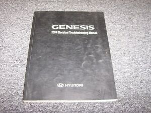 2009 hyundai genesis sedan electrical wiring diagram manual 3 8l 4 6 rh ebay com