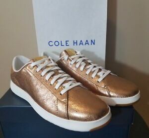 Details About Womens Cole Haan Grandpro Tennis Shoes Ruggine Glitter Gold Shoes Sizes 7 10