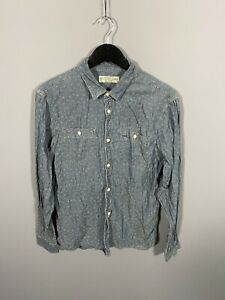 ALLSAINTS-Shirt-Medium-Blue-Floral-Great-Condition-Men-s
