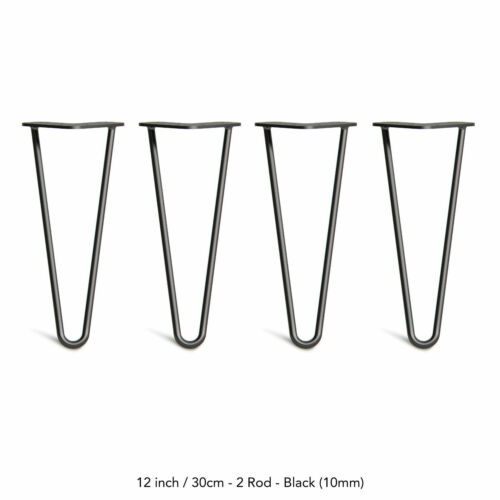 """8/"""" 12/"""" 16/"""" 28/"""" Hairpin Coffee Table Legs DIY Metal Set of 4 Home Furniture Parts"""