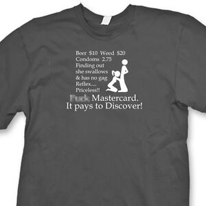 191b97263 F**K MASTERCARD Funny Raunchy T-shirt Mens Dirty Humor Tee Shirt | eBay