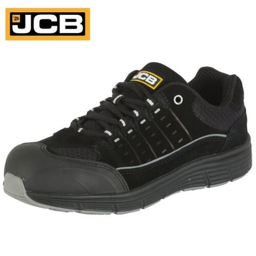 JCB MENS SUEDE LEATHER SAFETY WATERPROOF TRAINERS WORK STEEL TOE CAP BOOTS SIZE