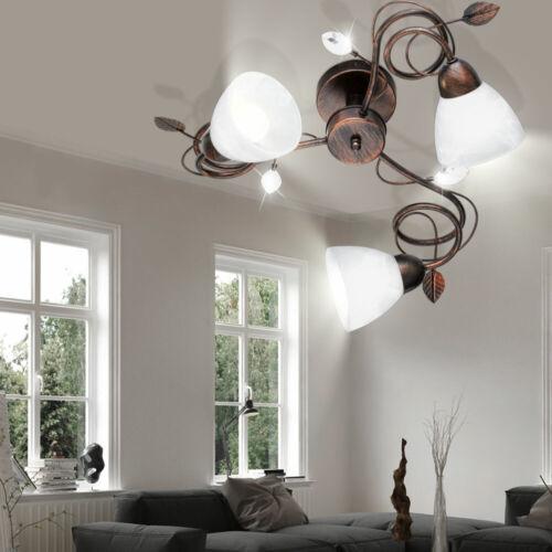 LED Decken Lampe Wohn Zimmer Alabaster Glas Beleuchtung Blätter Big Light