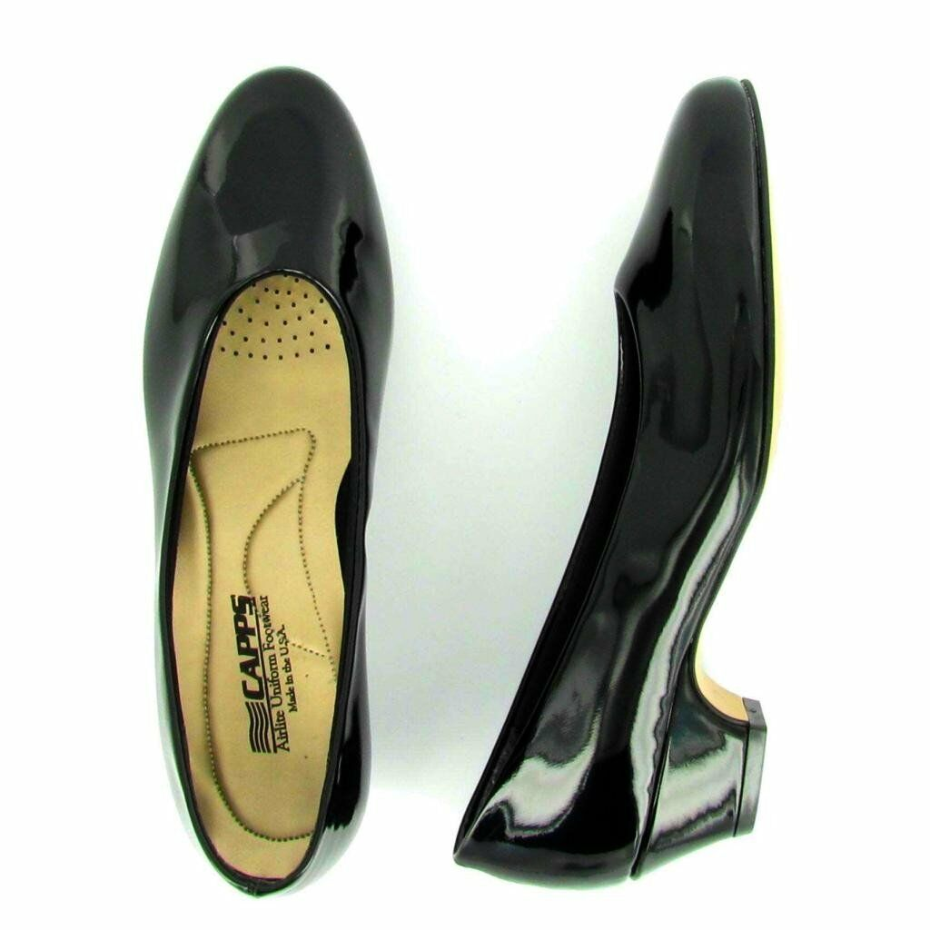 Women's Low Heel US Armed Services Approved Uniform Shoes, 90130, 90130, Shoes, Shiny Black dceed2