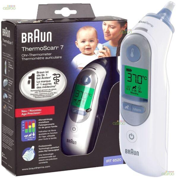 100% De Qualité Braun Thermoscan 7 Irt6520 Thermomètre Auriculaire Bébé/adulte | Meilleur Prix