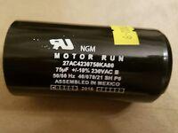 Ngm Motor Run Capacitor 75 Mf 230 Vac 50/60 Hz