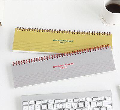 Desk Memo Weekly Planner Note Pad Scheduler Organizer Spring Notebook Scrapbook