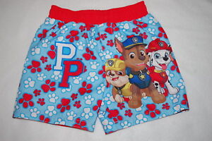 45ca251c92 Baby Boys Swim Trunks PAW PATROL Chase Marshall Rubble 0-3 3-6 6-9 ...
