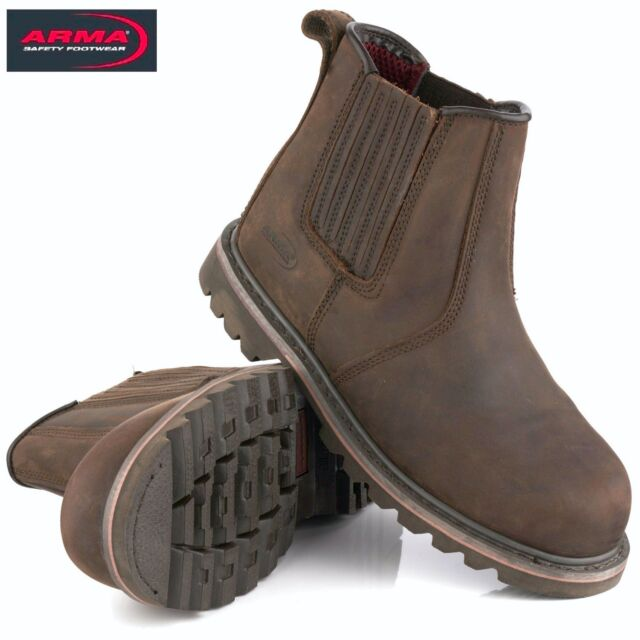 12bc7d87969 ARMA A17 RAWHIDE RIDGBACK S3 DEALER CHELSEA SAFETY STEEL TOE CAP WORK BOOTS  SIZE