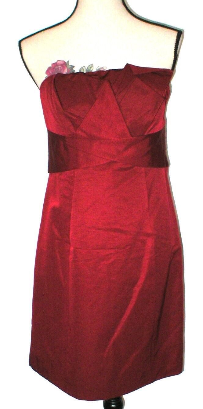 New damen Party The Limited Dress Dark rot Strapless 14 Date Dinner Wedding Gue