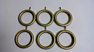 Pack-of-6-Distressed-Brass-Effect-Wooden-Curtain-Rings-for-50mm-Poles-22B416