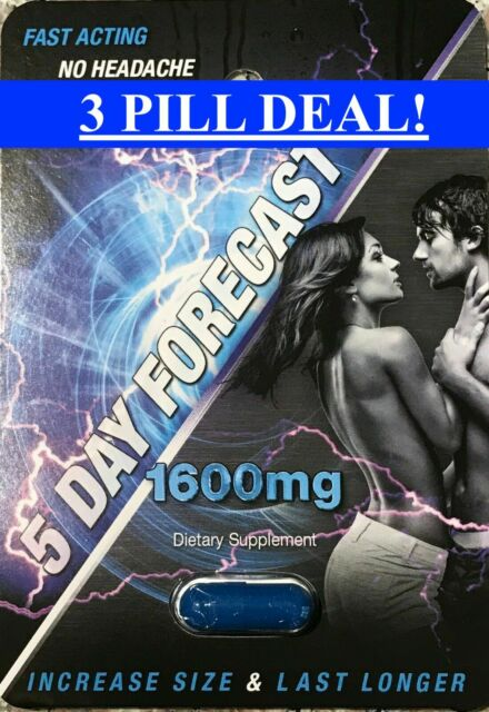 5 Day Forecast 1600 mg Male Sexual Enhancement Pills (3 PK) Free Shipping!