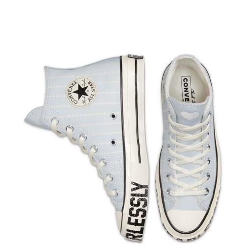 Converse Women/'s LOVE FEARLESSLY CHUCK 70 HI Leather Shoes Photon Dust 567152C e
