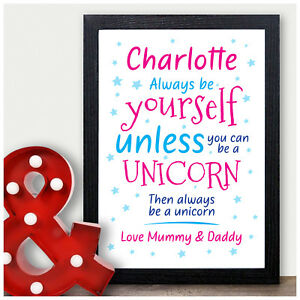 Image Is Loading Personalised UNICORN Gifts For Girls Her Daughter She