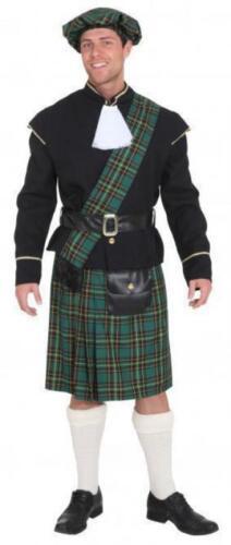 Scozzese scozzesi Costume scozzesi Rock giacca gonna cappello berretto cornamusa Costume Uomo